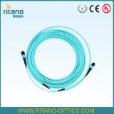 Câble optique de joncteur réseau de fibre de MPO/APC-MPO/APC assemblant Patchcords