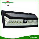 L'indicatore luminoso esterno del sensore di movimento di energia solare dei 54 LED con il LED sugli entrambi lato senza fili impermeabilizza per il patio, la piattaforma, iarda