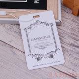 Vestuário personalizados de qualidade superior do Livro Branco Hang Tag