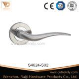 La sécurité solide en acier inoxydable de poignée de porte à la ronde Rose (S4024-S02)