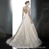 Крышка Sleeves Bridal шнурок Tulle 2018 a мантии - линия платье венчания Lb1823
