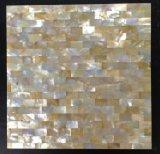 Mosaico amarillo del cuadrado del shell de la fregona del labio a bordo