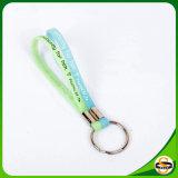 Kundenspezifisches Firmenzeichen gedruckte Silikon-Schlüsselkette für Schlüsselhalter