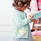 [ببي جرل] رسم متحرّك صوف سترة صوفيّة زرّ كنزات لأنّ أطفال جديات
