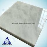 Panneau en pierre blanc en ivoire de nid d'abeilles de granit de marbre de plaque pour le revêtement de mur d'hôtel