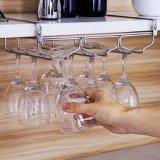 Suporte da cremalheira de Stemware, gancho de aço ajustável do vidro de vinho sob o gabinete (trilho 3)