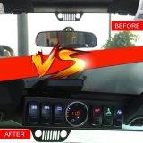 Jeep Wrangler Jk Jku 2009-2016 la Caja de control 6 Pod interruptor Relé electrónico Panel- Módulo de sistema de cableado con el interruptor basculante Kit de Montaje - potencia de hasta 6 Acceso