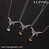 44008 Xuping는 늦게 Swarovski 보석에서 로듐 색깔 금 사슬 목걸이 결정을 디자인한다