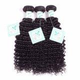 ブラジルのバージンのRemyの毛の織り方の倍は人間の毛髪の深いカールの織り方を浸す