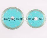 Ceramisch Knipsel, het blauw-Met een laag bedekte Blad van de Zaag van de Diamant van 125mm Turbo, Turbo Scherpe Schijf voor Ceramisch