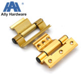 Bisagra de aluminio en color dorado