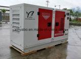 De Diesel Genertaor van Yanmar die met Geluiddicht wordt geplaatst