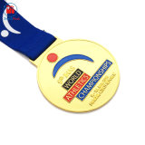 Medaille van de Herinnering van de Sport van het Metaal van de Toekenning van de Kampioenen van Word van het Email van de Legering van het Zink van de Douane van de Fabrikant van China de Goedkope Gouden Geen MinimumOrde