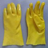 Безопасности ПВХ рабочие перчатки