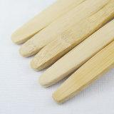 Escova de dentes de madeira de bambu natural biodegradável com cerdas Tynex DuPont