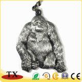chaîne principale en métal de souvenir de tourisme de zoo de forme de l'orang-outan 3D