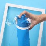Botella de agua modificada para requisitos particulares del silicón de la insignia de la impresión