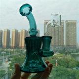 Goldfarben-Glasrauch-Rohr-Filter-Wiederanlauf-Wasser-Rohre