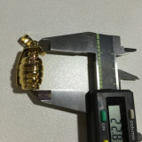 Le pendant neuf fait sur commande de grenade de Hip Hop d'or conçoit les hommes Mjhp120