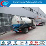VacuümVrachtwagen 4cbm van Dongfeng de Vrachtwagen van de Zuiging van de Riolering