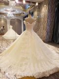 Платье венчания мантии шарика шнурка иллюзиона Шампань шикарное