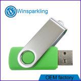 Unidad flash USB giratorios promocionales con logotipo personalizado