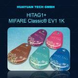 Технология RFID считыватель HITAG1+считывателем MIFARE Classic 1K Smart эпоксидной брелок цепочки ключей