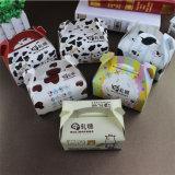 Scatola da pasticceria su ordinazione della tazza dei contenitori di bigné/carta kraft/Contenitore a buon mercato di carta di bigné