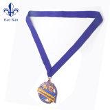 Kundenspezifisches Firmenzeichen-Metallgoldmedaillen-Farbband für Verkauf
