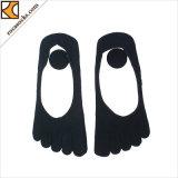 女性ショーの綿ローカットの5つの指のソックス無し(164015SK)