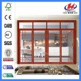 Puerta de vidrio moldeado laminado de madera maciza