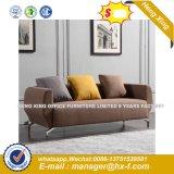 Em couro preto e branco Sala sofá (HX-8N1492)