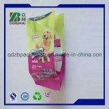Bolsa de plástico envases de alimentos para mascotas con cremallera