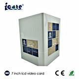 Tarjeta video del LCD de 7 pulgadas/folleto video como el saludo/invitación del regalo