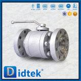Válvula de esfera macia do aço do carbono do selo do projeto seguro do incêndio de Didtek