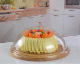 Basamento acrilico della torta con il coperchio