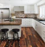 American Pintado/Coradas Face-Framed Sobreposição total de madeira de ácer Sólido branco Apartamento Agitador Cinza armário de cozinha com mobiliário de cozinha fechar o controle deslizante da dobradiça