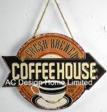 Тиснение (emboss) конструкции свежим кофе печать металлической стенки декор зубного налета