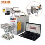 Agens wünschte Verfalldatum-Drucken-Maschine Qr Code/Faser-Laser-Markierung der Seriennummer-10W 20W