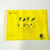 黄色い郵便利用者袋のプラスチック衣服のロゴの包装の郵便利用者袋