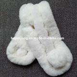 Las bufandas verdaderas de la piel del conejo de Rex de Rex del invierno del conejo de la bufanda caliente de la piel teñieron a señora Muffler