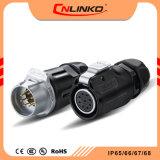 승인 TUV/CCC/UL 증명서는 IP65/IP67 신호 장비를 위한 자동 원형 전기 연결관을 방수 처리한다
