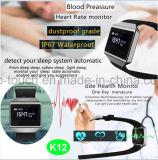 Slimme Armband met IP67 de Waterdichte en Functies van de Monitor (K12)