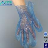 Безопасность защитные одноразовые перчатки LDPE для пищевой категории
