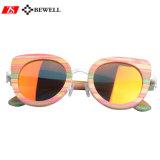 2017 Les femmes à la mode des Filles de lunettes de soleil en bois