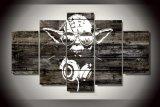 [هد] طبع [يودا] [ستر ور] [بينتينغ كنفس] [برينت رووم] زخرفة طبلة ملصقة صورة نوع خيش [مك-142]