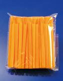 Cuillère de couleur paille en plastique solide 100pcs/sachet