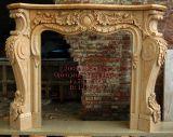 Manteau de cheminée en marbre naturel de la main la sculpture (SK-2552)