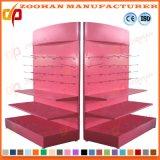 Qualitäts-Doppeltes versah Metallsupermarkt-Regal-Bildschirmanzeige-Zahnstange mit Seiten (Zhs36)