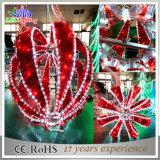 Bal van Mortif van Kerstmis van de Vakantie van de Decoratie van de tuin de Kleurrijke Lichte Openlucht